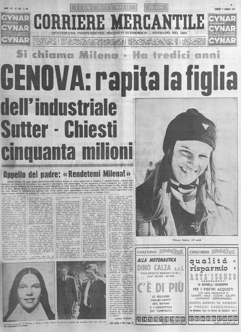 Milena Sutter e Lorenzo Bozano