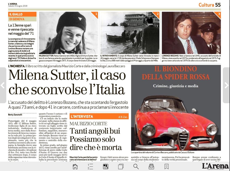 Milena Sutter - Cold Case Investigation - Blog IlBiondino.com - Corte&Media Agency -